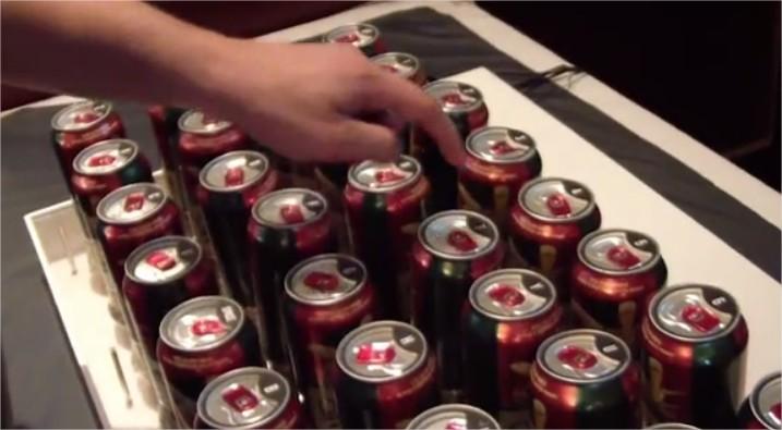 beer-keyboard Notre Veille : Un clavier interactif à base de bière!