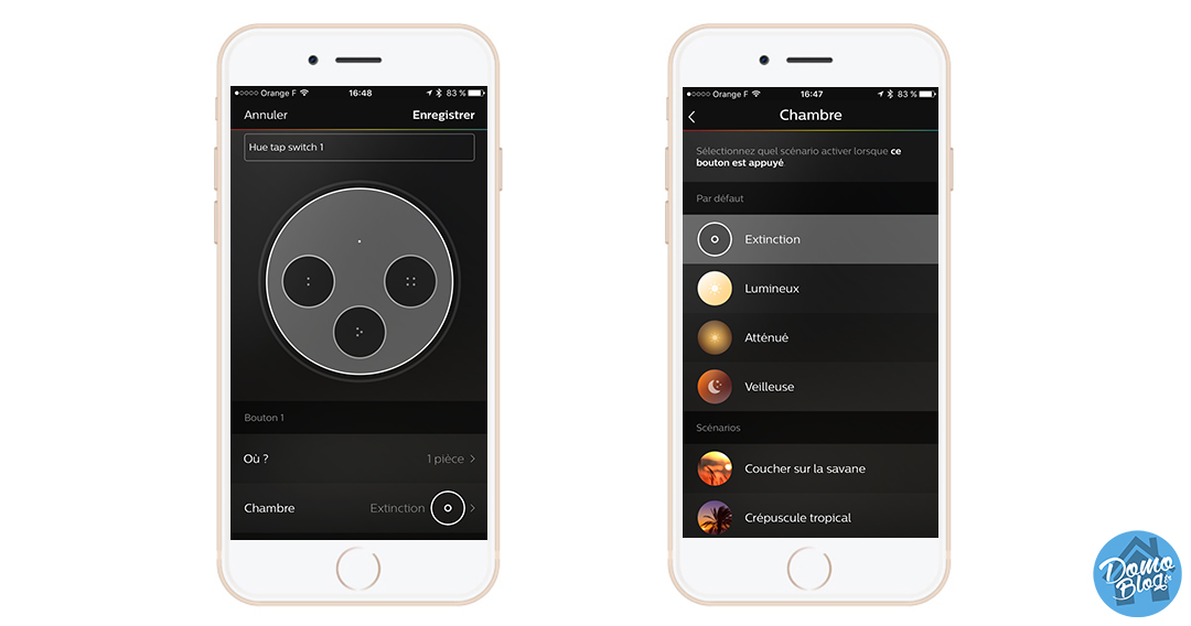 test-philips-hue-tap-button-domoblog-iphone-programmation-scene