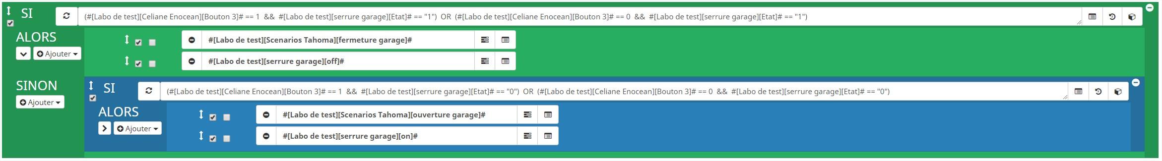 scenario-jeedom-celiane(enocean-serrure-connectee-somfy