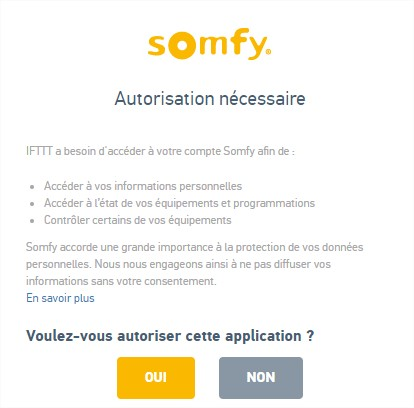 IFTTT-account-somfy-access