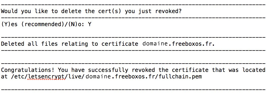 certificat-ssl-certbot-letsencrypt-certificat-revoke-jeedom-domotique