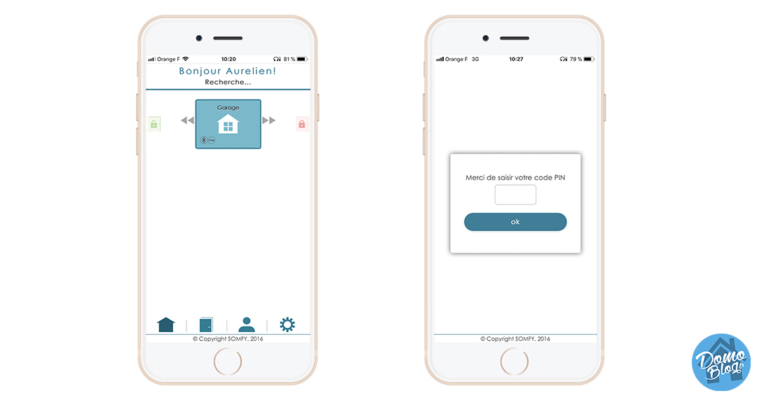 somfy-key-application serrure-ios-iot-domotique