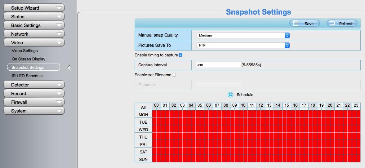 foscam-fi9853ep-snapshot-configuration
