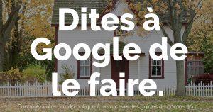 Demandez à Google de le faire! Avec la domotique Eedomus et les Chromecast audio!