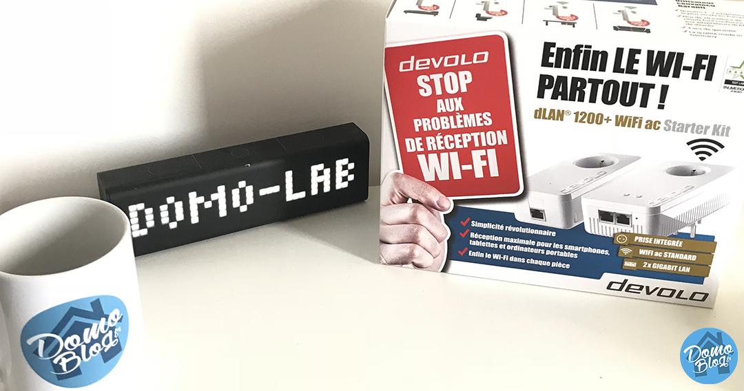 Test du kit CPL Devolo 1200+ AC avec 2 ports ethernet et point d'accès wifi