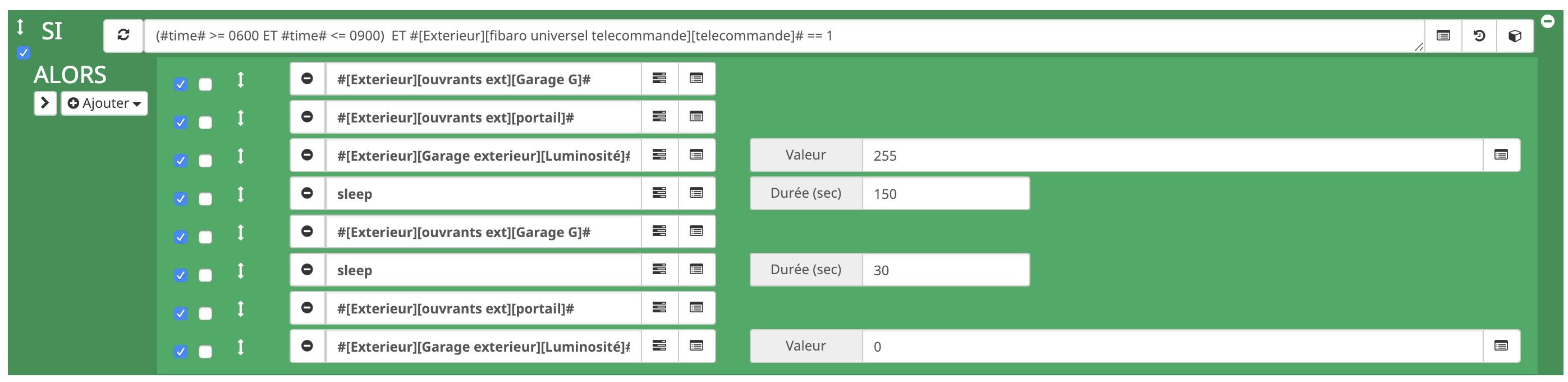 scenario-jeedom-action-telecommande-portail-unirec-fibaro