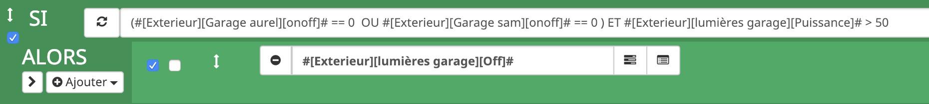 scenario-jeedom-extinction-lumiere-garage