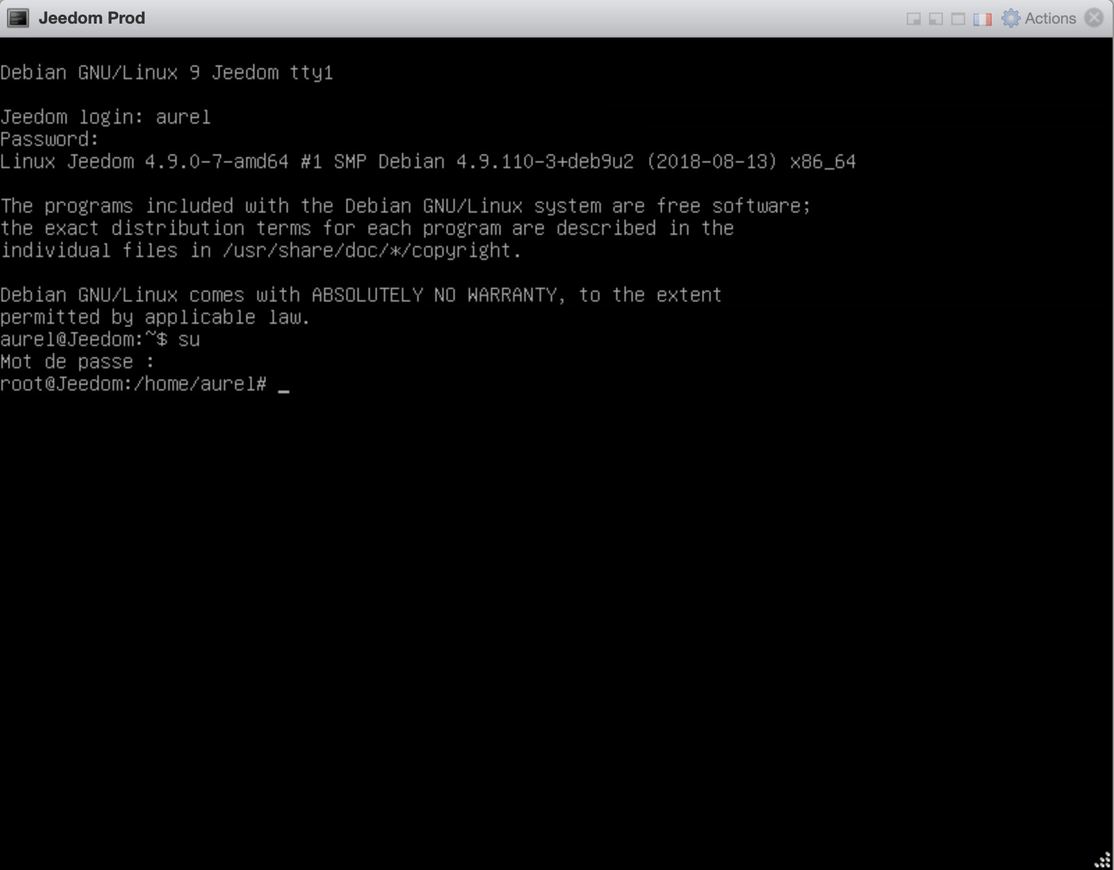 Jeedom-installation-debian-linux-vm-esxi-login