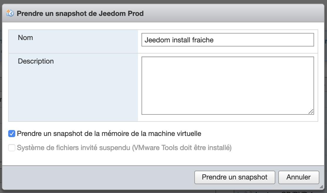 Jeedom-installation-debian-linux-vm-esxi-snapshot-settings