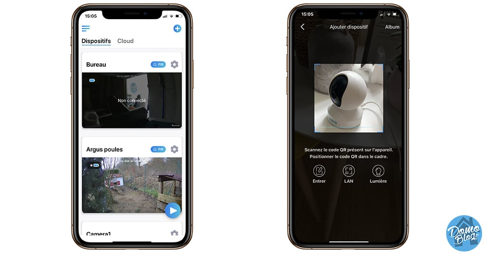 reolink-e1-ajout-app-ios