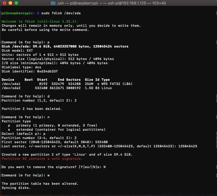 fdisk-resize-partition-raspberrypi-ssd