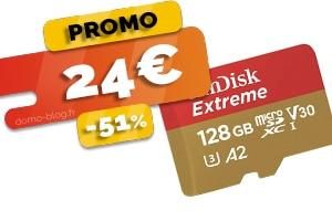 Le Carte Micro SD 128 Go en #PROMO pour seulement 24€ (-51%)