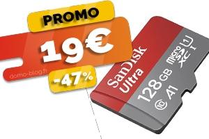 Le Carte SD 128 Go en #PROMO pour seulement 19€ (-47%)