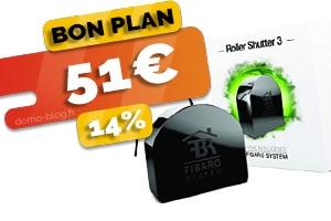 Le roller shutter Fibaro pour domotiser vos volets en #PROMO pour seulement 51€ (-14%)