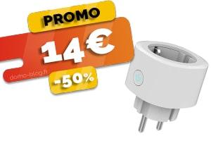 SOLDES – La Prise Wifi Connectée Compatible Assistants Vocaux et Domotique en #PROMO pour seulement 14€ (-50%)
