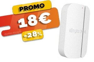 Le Détecteur d'Ouverture Wifi Compatible Domotique et Assistants Vocaux en #PROMO pour seulement 18€ (-24%)