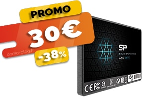 Le Disque SSD 256Go en #PROMO pour seulement 30€ (-38%)