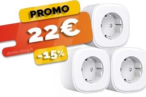 Le lot de 3 prises connectées wifi et compatibles assistants connectés en #PROMO pour seulement 22€ (-25%)