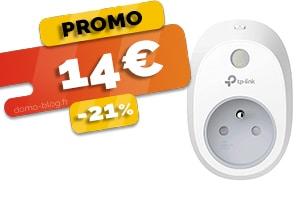 La Prise Connectée Wifi Compatible Domotique et Assistants Vocaux en #PROMO pour seulement 14€ (-21%)