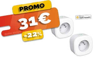 Le Pack de 2 Prises Connectées Compatibles IFTTT, Domotique et Assistants Vocaux en #PROMO pour seulement 31€ (-22%)