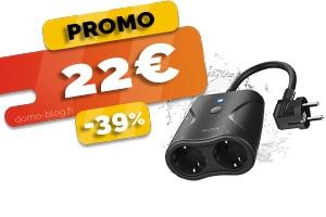 La Double Prise Connectée Extérieure Wifi Compatible Domotique et Assistants Vocaux en #PROMO pour seulement 22€ (-39%)