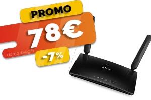 Le Routeur 4G Wifi 4 Ports Ethernet en #PROMO pour seulement 78€ (-7%)
