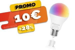 L'Ampoule Wifi Compatible Domotique, IFTTT et Assistants Vocaux en #PROMO pour seulement 10€ (-28%)