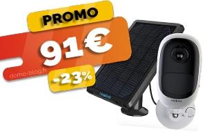 La Caméra avec Panneau Solaire Extérieure Sans Fil Totalement Autonome en #PROMO pour seulement 91€ (-23%)