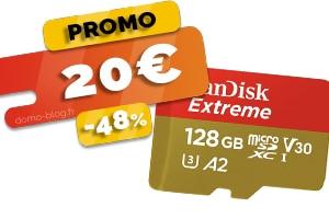 La carte Micro SD Sandisk 128Go en #PROMO pour seulement 20€ (-48%)