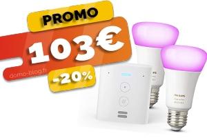 L'Echo Flex + 2 Ampoules Philips Hue Connectées en #PROMO pour seulement 103€ (-20%)