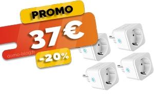 Le Pack de 4 Prises Connectées Wifi Compatibles Domotique et Assistants Vocaux en #PROMO pour seulement 37€ (-20%)