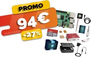 Le kit complet Raspberry Pi 4 2Go en #PROMO pour seulement 94€ (-27%)