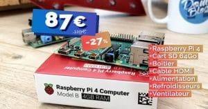 Le kit complet Raspberry Pi 4 4Go actuellement à seulement 87€ 🔥