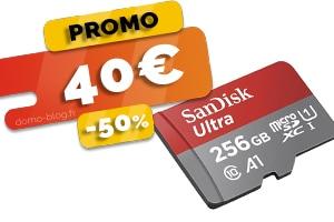 La carte Micro SD Sandisk 256Go en #PROMO pour seulement 40€ (-50%)