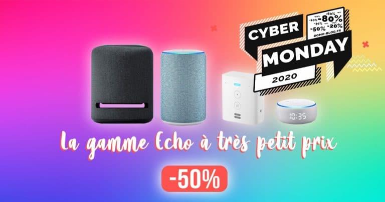 Jusqu'à -50% sur les assistants vocaux Amazon Echo pour le Cyber Monday 🔥