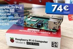 Le kit complet Raspberry Pi 4 4Go affiche un prix explosif pour Noel 🔥