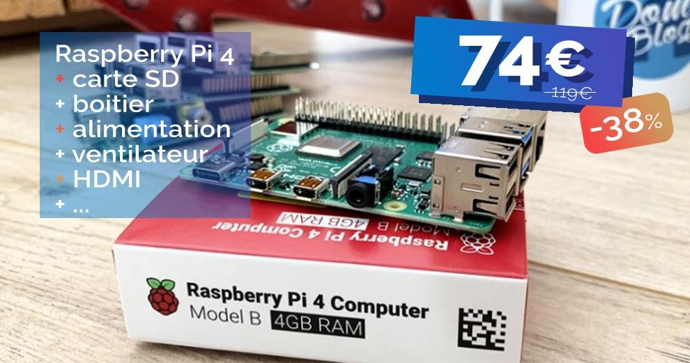 Le kit complet Raspberry Pi 4 4Go affiche un prix explosif de 74€ seulement pour les soldes 🔥