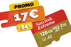 La carte Micro SDXC Sandisk 128 Go en #PROMO pour seulement 17€ (-54%)