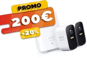 Le Pack de 2 Caméras IP Sans Fil avec Stockage Local en #PROMO à seulement 200€ (-20%)
