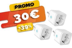 Le Pack de 3 Prises Intelligentes Compatibles Assistants Vocaux et Domotique en #PROMO pour seulement 30€ (-39%)