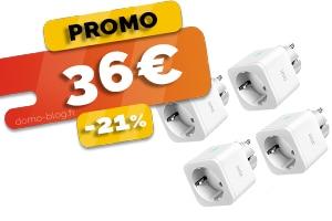 Les 4 Prises Compatibles Assistants Vocaux et Domotique en #PROMO pour seulement 36€ (-21%) Soit 9€ la Prise