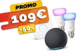 L e kit complet Philips Hue + amazon Echo Dot 4 en #PROMO pour seulement 109€ (-50%)