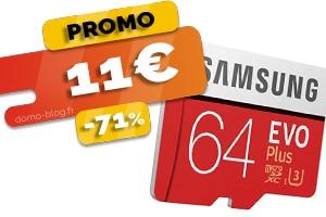La carte SD de 64Go en #PROMO à seulement 11€ (-71%)