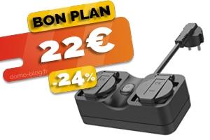 La double prise wifi extérieure compatible IFTTT domotique et assistants en #PROMO pour seulement 22€ (-24%)