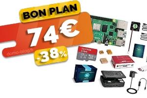 Le kit complet Raspberry Pi 4 4Go en #PROMO pour seulement 74€ (-38%)