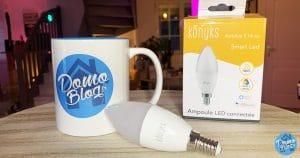Test de l'ampoule Smart LED wifi Konyks Antalya E14 Max