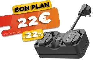 La double prise extérieure connectée en wifi et compatible Jeedom en #PROMO pour seulement 22€ (-22%)