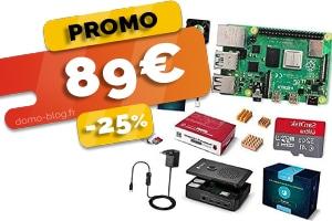 Le kit complet Raspberry Pi 4 4Go de RAM en #SOLDE à seulement 89€ (-25%)