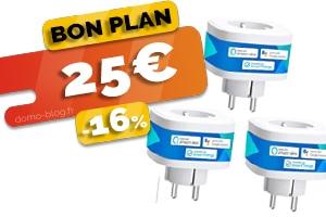 Le lot de 3 prises connectées en wifi et compatibles assistants en #PROMO pour seulement 25€ (soit 8€ la prise)