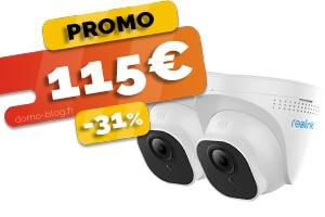 Les 2 Caméras PoE d'Extérieur en #PROMO pour seulement 115€ (-31%)